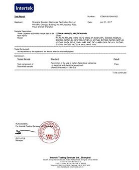 宝宫电子二极管-RoHS认证证书