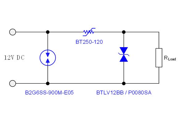 三星安防摄像头电源保护方案 12VDC:13KV 8/20us